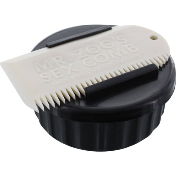Sex Wax Container Black / White with Wax Comb