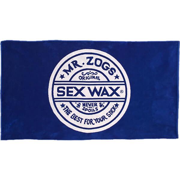 "Sex Wax Terry Jacquard Blue Beach Towel 38"" x 70"""