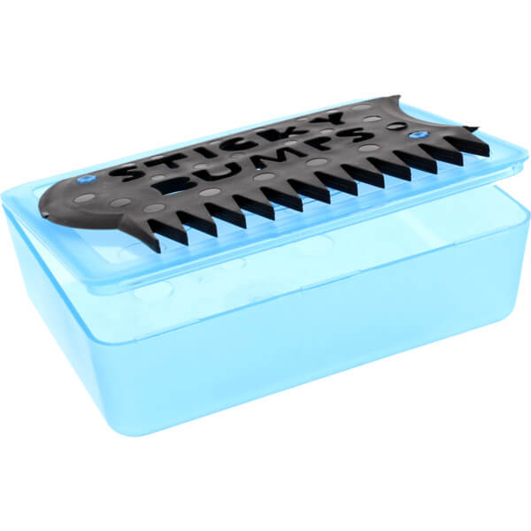 Sticky Bumps Wax Box & Comb Blue / Black Wax Comb
