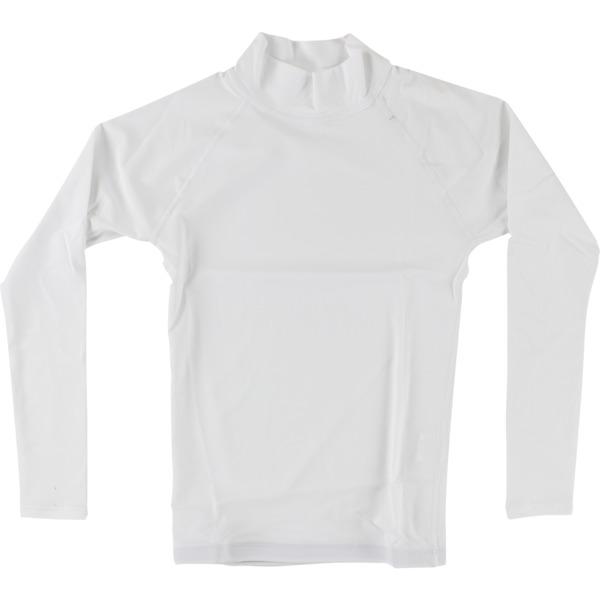 Blocksurf Long-Sleeve White Rash Guard - Small