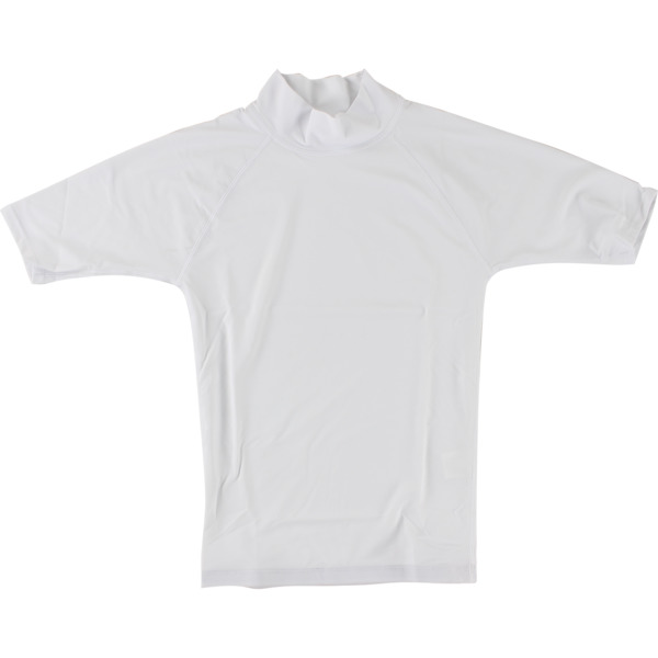 Blocksurf Short-Sleeve White Rash Guard - X-Small