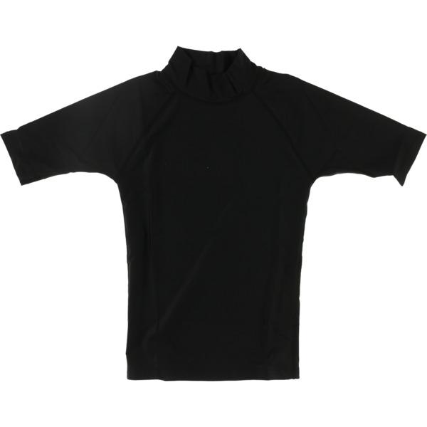 Blocksurf Short-Sleeve Black Rash Guard - Large
