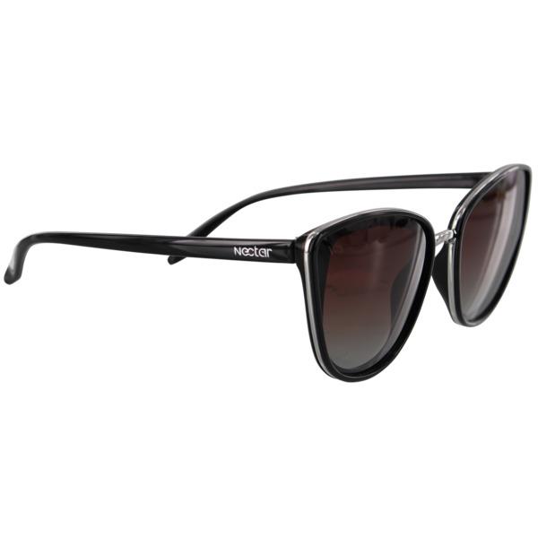 Nectar Baeside Gloss Black / Amber Polarized Sunglasses