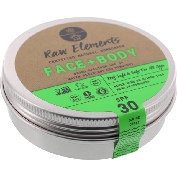 Raw Elements Eco Formula SPF 30+ Lotion - 3 oz