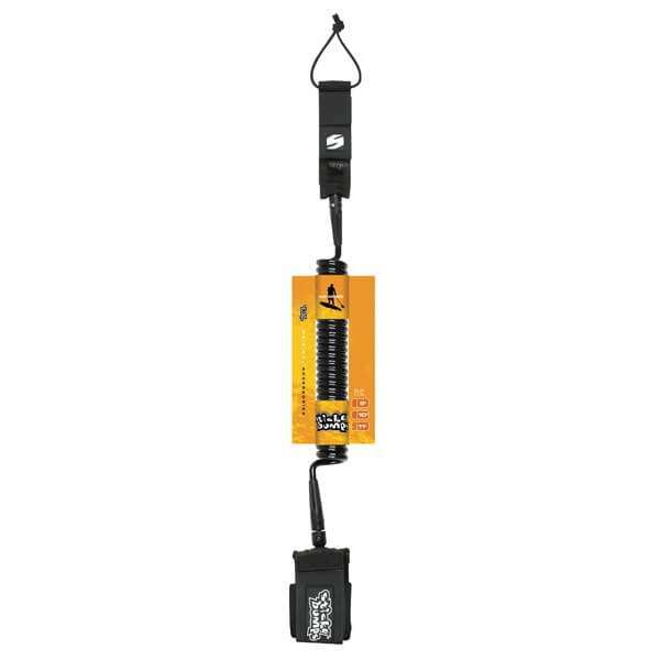 Sticky Bumps Coiled / Calf Black SUP Leash - 8'