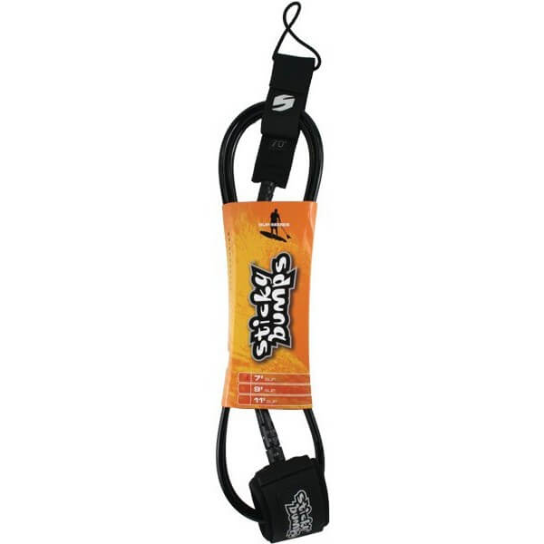 Sticky Bumps Regular Black SUP Leash - 7'