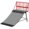 Freshpark 2 Quarter Pipes - 2 Fun Boxes - 2 Ext Legs - 2 Safety Rails Skateboard Ramps Combo