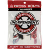 Independent Cross Phillips Head Black / Red Skateboard Hardware Set - 1""