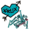 Krux Trucks Krome Phillips Head 7 Blue / 1 Pink Skateboard Hardware Set - 1""