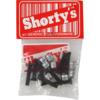 "Shortys Skateboards Generic Hardware Black Skateboard Hardware Set - 1"""