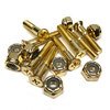 Standard Phillips Head Gangsta Gold Skateboard Hardware Set - 1""