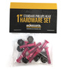 Standard Phillips Head Pink Skateboard Hardware Set - 1""