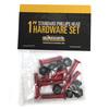 "Standard Phillips Head Red Skateboard Hardware Set - 1"""