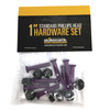 Standard Phillips Head Purple Skateboard Hardware Set - 1""
