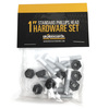 Standard Phillips Head Bone White Skateboard Hardware Set - 1""