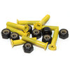"Standard Phillips Head Yellow Skateboard Hardware Set - 1"""