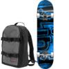 """Blind Skateboards OG Watercolor Blue Mini Complete Skateboard Includes Free Backpack! - 7.25"""" x 29.2"""""""