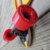 """Layback Longboards Finish Line Red Longboard Complete Skateboard - 9.12"""" x 39"""""""