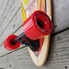 """Layback Longboards Squlride Red Longboard Complete Skateboard - 9.75"""" x 40"""""""