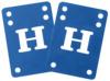 Blank Skateboards H-Block Blue Riser Pads - Set of Two (2) - 2mm