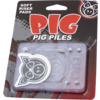 """Pig Wheels Piles Clear Shock Pads - Set of Two (2) - 1/8"""""""