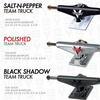 "Venture Trucks Team Black Shadow High Black Skateboard Trucks - 5.8"" Hanger 8.5"" Axle (Set of 2)"