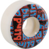 Blind Skateboards Stacked White / Red / Blue Skateboard Wheels - 52mm 99a (Set of 4)