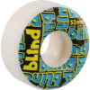 Blind Skateboards Stacked White / Red / Blue Skateboard Wheels - 53mm 99a (Set of 4)