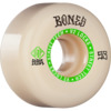 Bones Wheels STF V2 Ninety-Nines White / Green Skateboard Wheels - 53mm 99a (Set of 4)