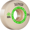 Bones Wheels STF V3 Ninety-Nines White / Green Skateboard Wheels - 54mm 99a (Set of 4)