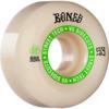 Bones Wheels STF V5 Ninety-Nines White / Green Skateboard Wheels - 53mm 99a (Set of 4)