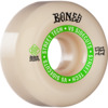 Bones Wheels STF V5 Ninety-Nines White / Green Skateboard Wheels - 55mm 99a (Set of 4)