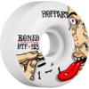 Bones Wheels Jordan Hoffart Pro STF Addicted White Skateboard Wheels - 53mm 103a (Set of 4)