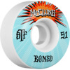 Bones Wheels Trent McClung Pro STF V1 Blast White Skateboard Wheels - 53mm 103a (Set of 4)