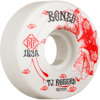 Bones Wheels TJ Rogers STF Spirit Wolf V3 White / Red Skateboard Wheels - 52mm 83b (Set of 4)