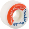Chocolate Skateboards Split Conical White / Red / Blue Skateboard Wheels - 52mm 99a (Set of 4)