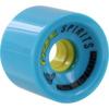 Free Wheel Co Spirits Blue / Yellow Longboard Skateboard Wheels - 70mm 78a (Set of 4)