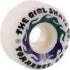Girl Skateboards GSSC Conical White Skateboard Wheels - 53mm 99a (Set of 4)