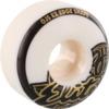 OJ Wheels Elite EZ Edge White w/ Gold / Black Skateboard Wheels - 54mm 101a (Set of 4)