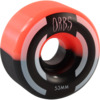Orbs Wheels Apparitions Split Coral / Black Skateboard Wheels - 53mm 99a (Set of 4)