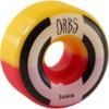 Orbs Wheels Apparitions Split Red / Yellow Skateboard Wheels - 54mm 99a (Set of 4)