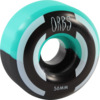 Orbs Wheels Apparitions Split Teal / Black Skateboard Wheels - 56mm 99a (Set of 4)