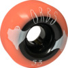 Orbs Wheels Poltergeist Coral / Black Skateboard Wheels - 53mm 99a (Set of 4)