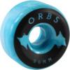 Orbs Wheels Specters Swirl Blue / White Skateboard Wheels - 56mm 99a (Set of 4)