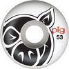 Pig Wheels Pig Head Natural Skateboard Wheels - 53mm 101a (Set of 4)