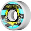 Powell Peralta Park Ripper II White / Blue / Yellow Skateboard Wheels - 56mm 104a (Set of 4)