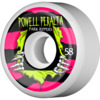 Powell Peralta Park Ripper II White / Pink / Yellow Skateboard Wheels - 58mm 104a (Set of 4)