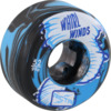 Ricta Wheels Whirlwinds Blue / Black Swirl Skateboard Wheels - 52mm 99a (Set of 4)