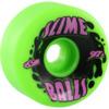 Santa Cruz Skateboards Big Balls Splat Slimeballs Green Skateboard Wheels - 65mm 97a (Set of 4)