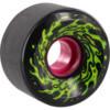 Santa Cruz Skateboards Slimeballs OG Slime Black / Glow Longboard Skateboard Wheels - 60mm 78a (Set of 4)